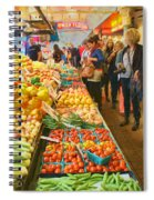 Fruits And Vegetables - Pike Place Market Spiral Notebook