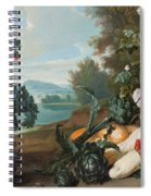 Fruits Flowers And Vegetables In A Landscape Spiral Notebook