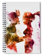 Fry And Leela Spiral Notebook