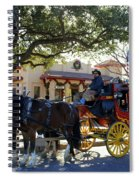 Ft Worth Stockyards Stagecoach  Spiral Notebook