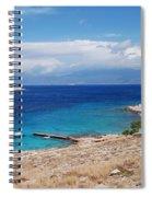 Ftenagia Beach On Halki Spiral Notebook