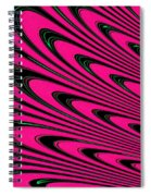 Fuchsia Peacock Feathers Fractal Spiral Notebook