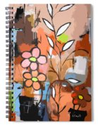 Fuddled Floral Spiral Notebook
