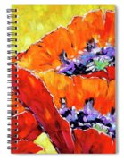 Full Bloom Poppies By Prankearts Fine Art Spiral Notebook