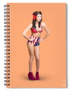 Full Body Pin-up Girl. American Retro Style Spiral Notebook