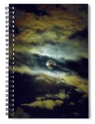 Full Moon And Clouds Spiral Notebook