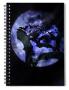 Full Moon Bats Spiral Notebook