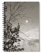 Full Moon Behind Cottonwood Tree Spiral Notebook