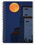 Full Moon Behind Tuxford Grain Elevator Spiral Notebook