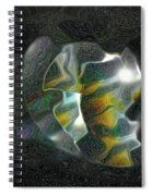 Abstract Full Moon Spiral Notebook