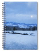 Full Moon Over A Field Of Snow Spiral Notebook