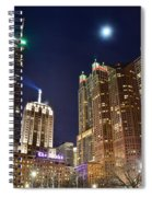 Full Moon Over Chi Town Spiral Notebook