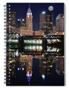 Full Moon Over Columbus Ohio Spiral Notebook
