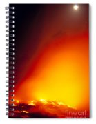 Full Moon Over Lava Spiral Notebook
