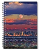 Full Moon Over New York City In October Spiral Notebook