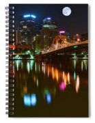 Full Moon Over Pittsburgh Spiral Notebook