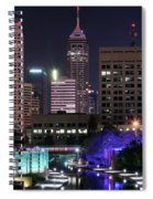 Full Moon Over The Canal Spiral Notebook