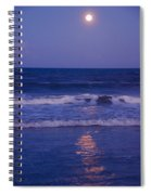 Full Moon Over The Ocean Spiral Notebook