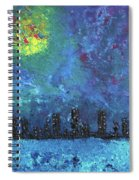 Full Moon Over Watercity Spiral Notebook