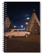 Full Moon Over Wigwam Motel Spiral Notebook