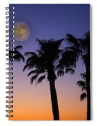 Full Moon Palm Tree Sunset Spiral Notebook