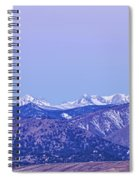 Full Moon Setting Over The Colorado Rocky Mountains Spiral Notebook