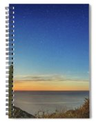 Full Moon With Shooting Star Spiral Notebook