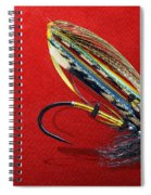 Fully Dressed Salmon Fly On Red Spiral Notebook
