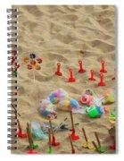 Fun At The Beach Spiral Notebook