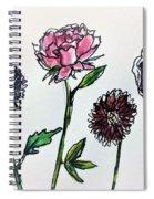 Four Flowers  Spiral Notebook