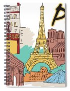 Fun Food And Folly In Paris Spiral Notebook
