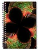 Funky Clover Spiral Notebook
