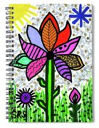 Funky Flower Mod Pop Spiral Notebook