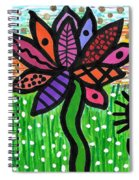 Funky Flowers At Sunset Spiral Notebook