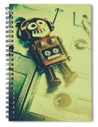 Funky Mixtape Robot Spiral Notebook