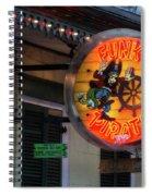 Funky Pirate Spiral Notebook