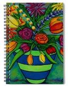 Funky Town Bouquet Spiral Notebook