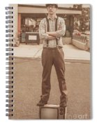 Funny Anchorman On Tv Spiral Notebook