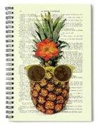 Funny And Cute Pineapple Art Spiral Notebook