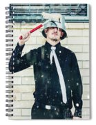 Funny Cleaner Man Ready For Action Spiral Notebook
