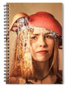 Funny Creative Cooking Pinup Girl Spiral Notebook