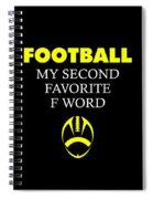 Funny Football Dad Design Second Favorite Spiral Notebook