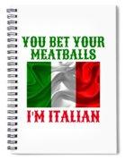 Funny Italian Flag Spiral Notebook