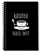 Funny Karate Design Karatea Black Belt White Light Spiral Notebook