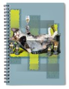 Funny Pet Print With A Tipsy Kitty  Spiral Notebook
