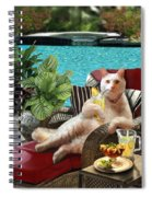 Funny Pet  Vacationing Kitty Spiral Notebook