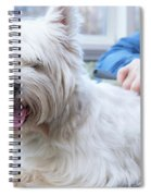 Funny View Of The Trimming Of West Highland White Terrier Dog Spiral Notebook