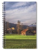 Fussen Mountain Scene Spiral Notebook