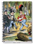 G. Cleveland Cartoon, 1896 Spiral Notebook