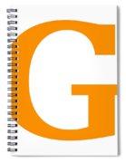 G In Tangerine Typewriter Style Spiral Notebook